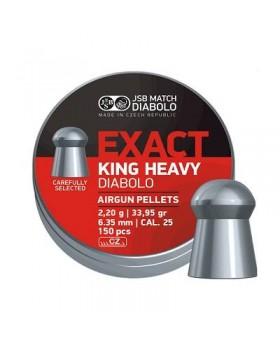 JSB EXACT KING HEAVY .25/150 (34 grains)