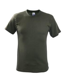 Must Hunt Μπλουζάκι Μονόχρωμο Κοντομάνικο Λαδί