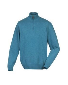 LE CHAMEAU GRANDVILLE πουλόβερ με φερμουάρ πετρόλ