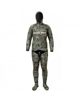 Must Dive Στολή Φόδρα/Ξυρισμένο 3mm Green