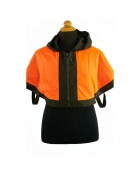 Aδιάβροχη Κάπα Κυνηγίου 2 Όψεων (Πορτοκαλί - Χακί)