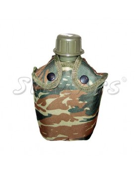 Παγούρι στρατιωτικό πλαστικό με ελληνικής παραλλαγής κάλυμμα