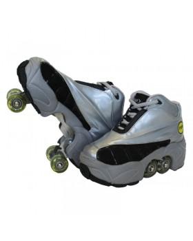 Rollers Πατίνια Skate Kick Roller (quad) Ασημί Γκρί NP-223-SG