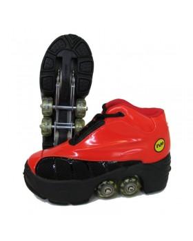Rollers Πατίνια Skate Kick Roller (quad) Κοκκινο NP-223-RB