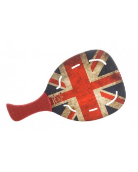 Morseto Ρακέτα Παραλίας Fashion England Flag με Τρύπες και Κόκκινη Λοξή Λαβή