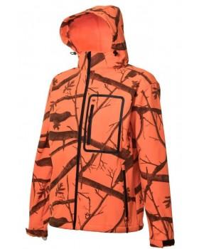 Toxotis Active Wear Αδιάνροχο Τζάκετ Softshell Πορτοκαλί
