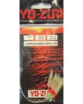 Τσαπαρί Yozuri Luminus Wing Sabiki Rig Red Y115