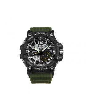 Ψηφιακό Ανδρικό ΡολόιΧχειρός Αδιάβροχο με Ένδειξη Ημερομηνίας - Λαδί